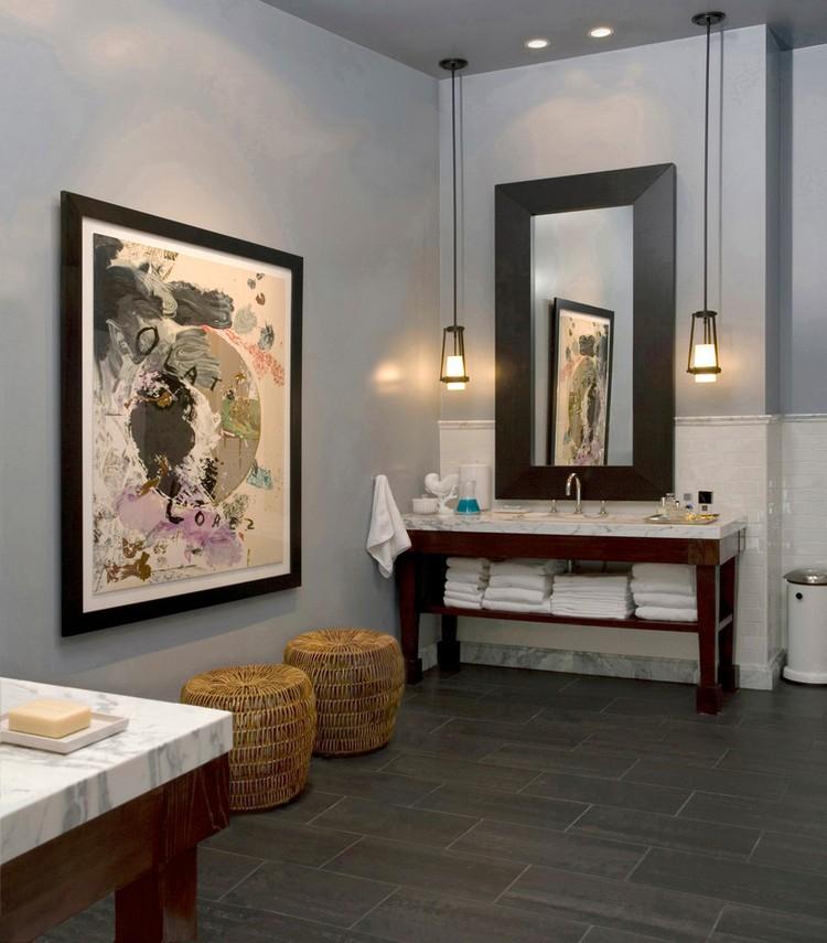 Tableau salle de bain et cadre dcoratif en 40 ides top
