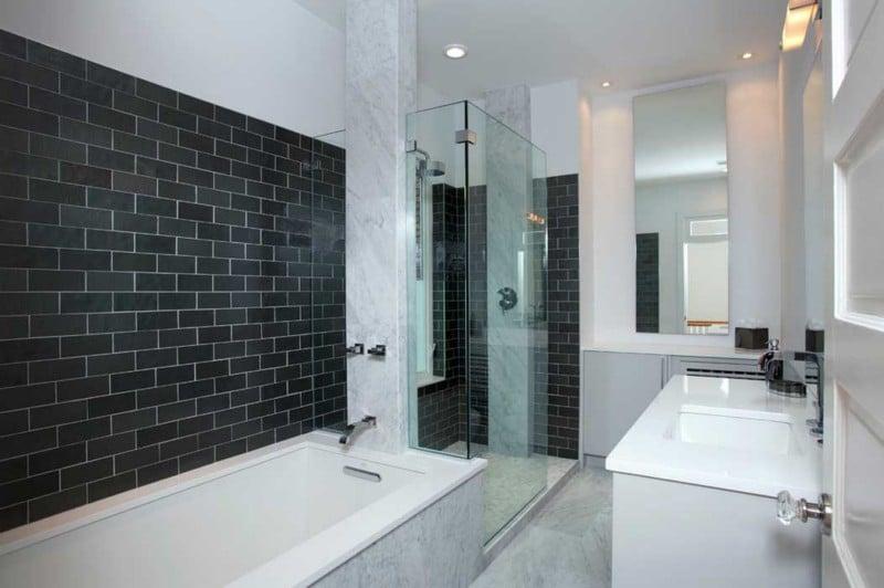 carrelage noir salle de bain. elegant great carrelage salle de ... - Carrelage Salle De Bain Italien