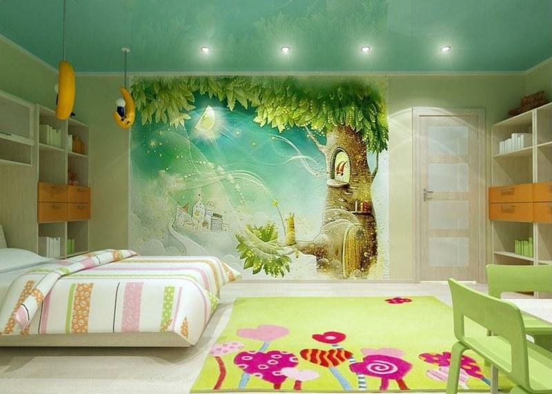 Fresque Murale Dans La Chambre Denfant 35 Dessins Joviaux