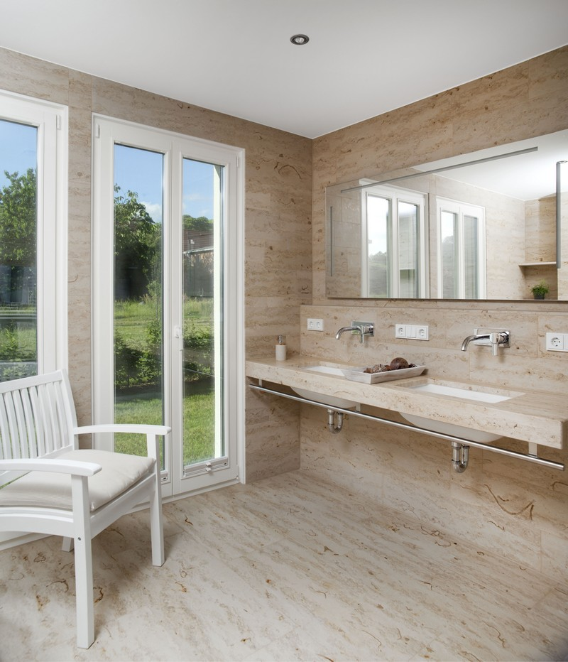 Salle De Bain En Travertin Moderne Moston Top