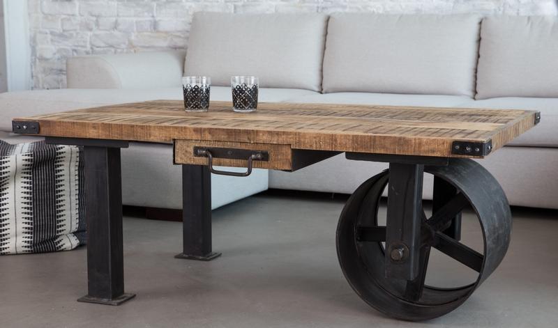 Table Basse Industrielle En Id Es Vin E Ou De Design Moderne