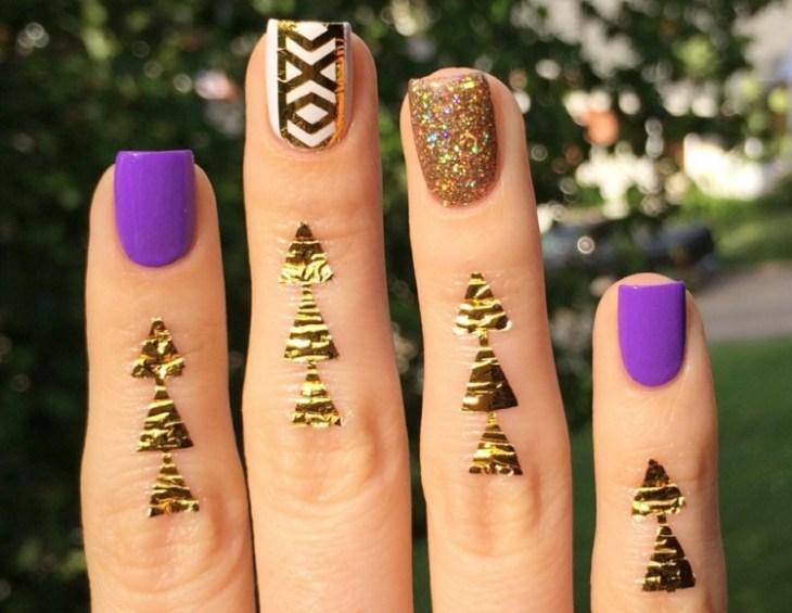 bijoux de peau doigts tatouages-temporaires-dorés-nail-art-assorti