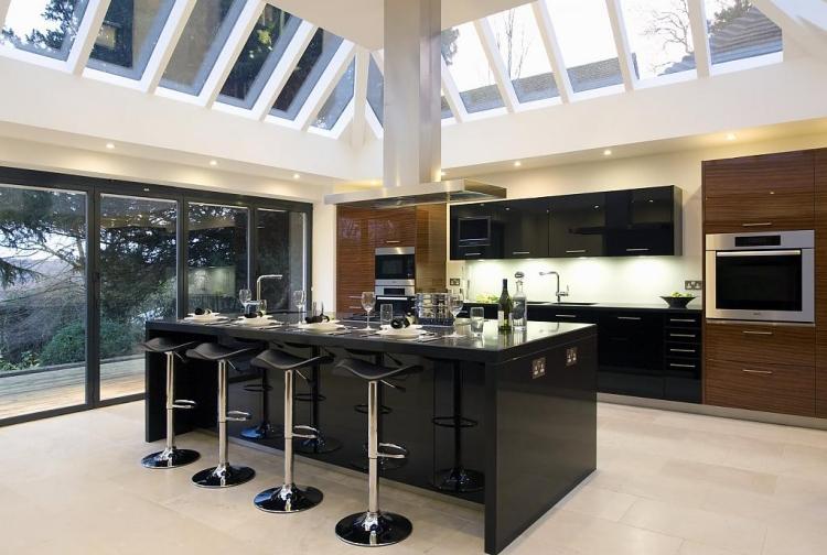 best cuisine noire et bois en ides inspirantes de design duintrieur with mobilier cuisine