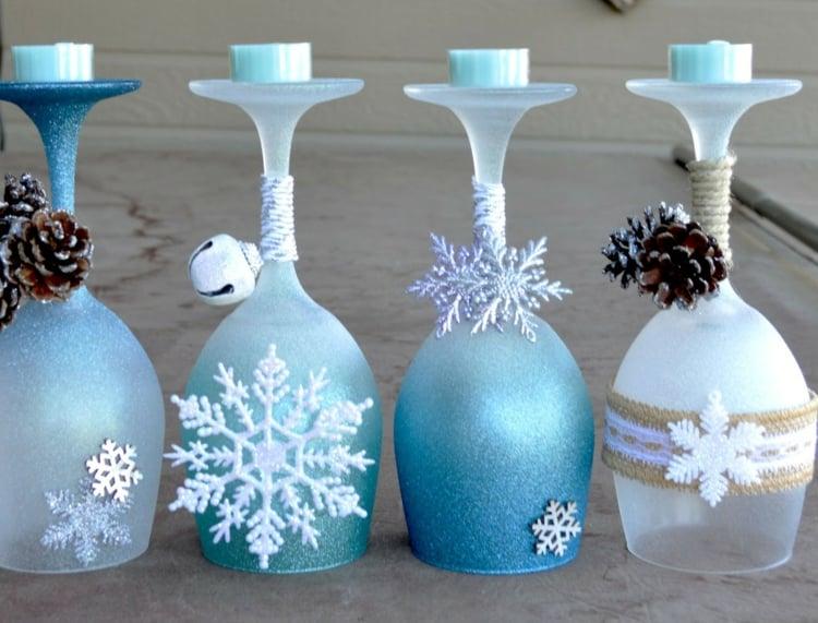 deco noel fait maison en verres a vin 23 idees originales et creatives decoration de