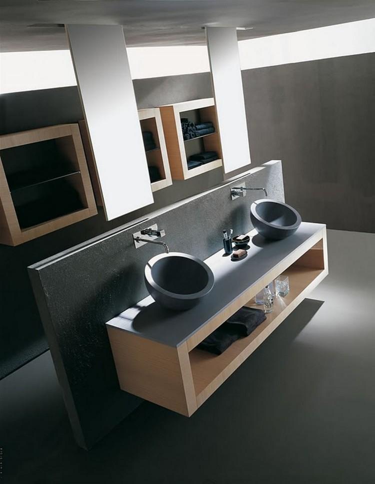 salle de bain noir et bois. amazing ensemble meuble salle bain ... - Salle De Bain Meuble Noir
