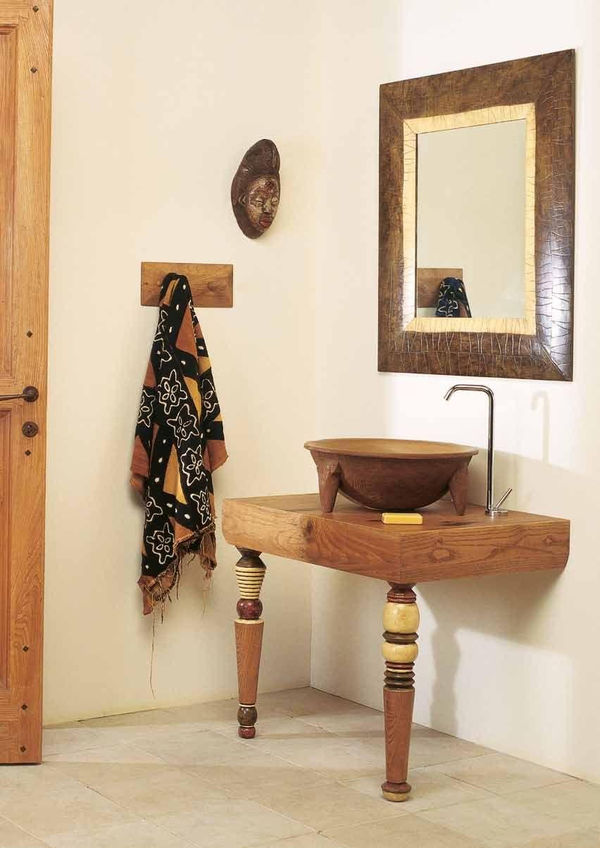 Meuble vasque salle de bain en bois patin et blanc mat