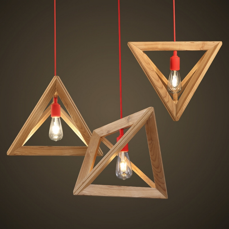 suspension bois de design original en