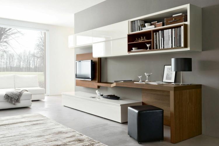bureau moderne dans un salon design