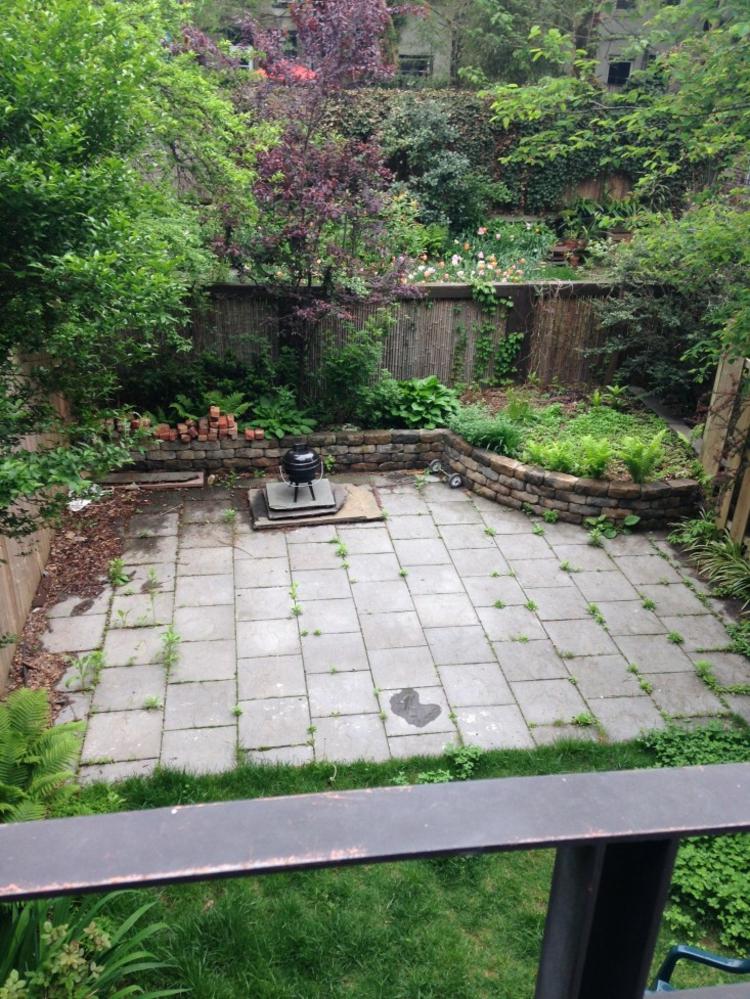 Amnagement jardin et terrasse en ville dune maison  Brooklyn