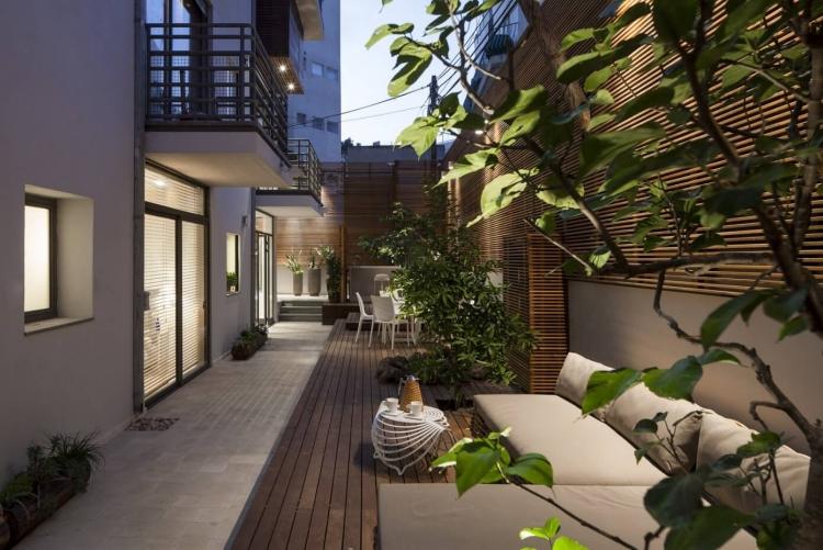 Design Exterieur Terrasse Jardin Deco Brise Vue Bois Terrasse Appartement Ville