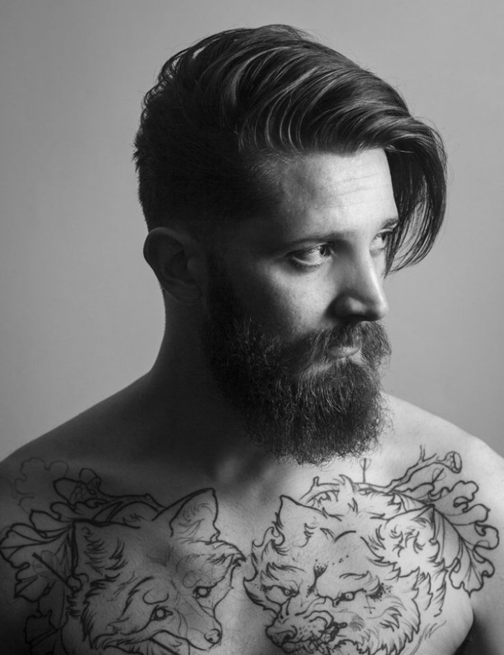 coupe-cheveux-homme-2016-frange-barbe
