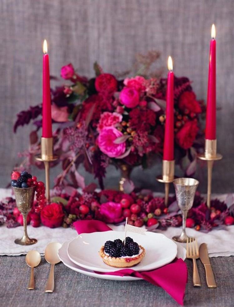 20 ides de dco de table SaintValentin romantique et