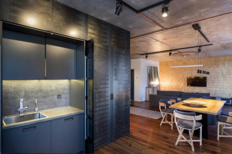 Luminaire Industriel Plafond En Bton Brut Et Casier
