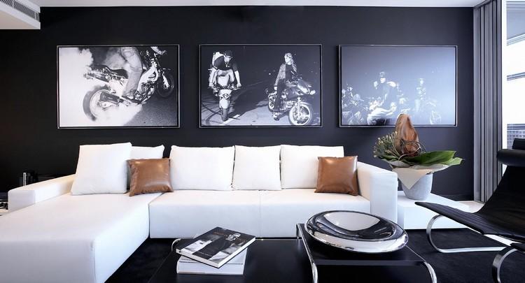 Peinture salon moderne  apprivoisez les couleurs sombres
