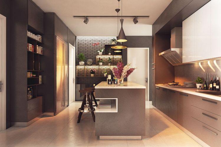Mobilier et dco en couleurs chaudes et froides dans deux appartements
