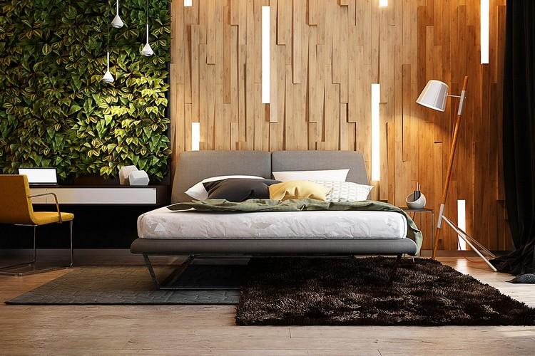 mural en 3d et parquet bois