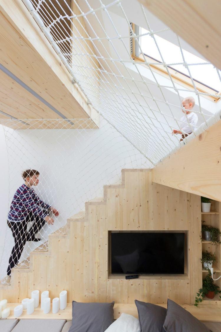 Aire de jeux en bois dans la chambre une ide par Ruetemple