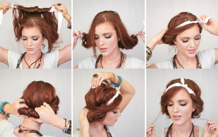 coiffure-vintage-chignon-années-20-headband-blanc