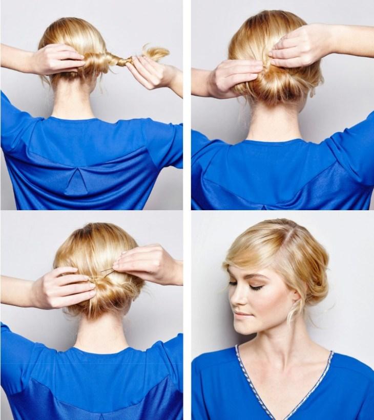 coiffure-vintage-chignon-bas-barrettes-facile-faire