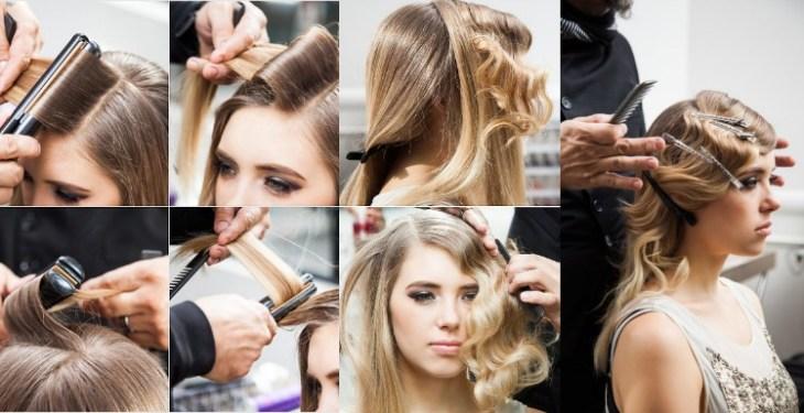 coiffure-vintage-faire-soi-même-épingles-lisseur