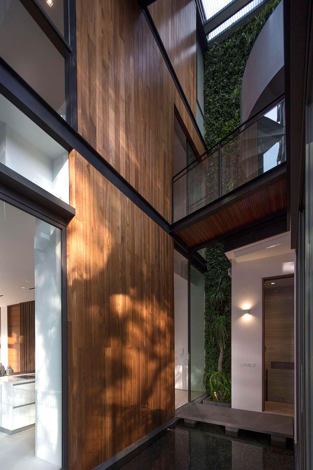 Dcoration nature et jardin vertical dans une maison design