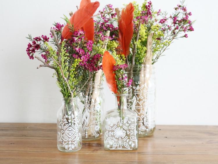 Dcoration vase en verre  20 compositions florales printemps