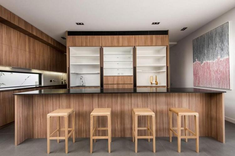 Meubles Bois Modernes Sur Fond Blanc Maison Darchitecte