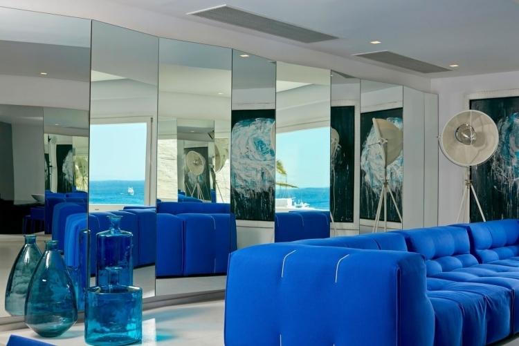 Chambre Bleu Electrique Et Gris