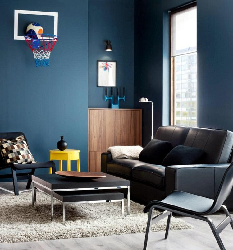 Peinture bleu gris  lintrieur le bleu pigeon et le bleu ardoise
