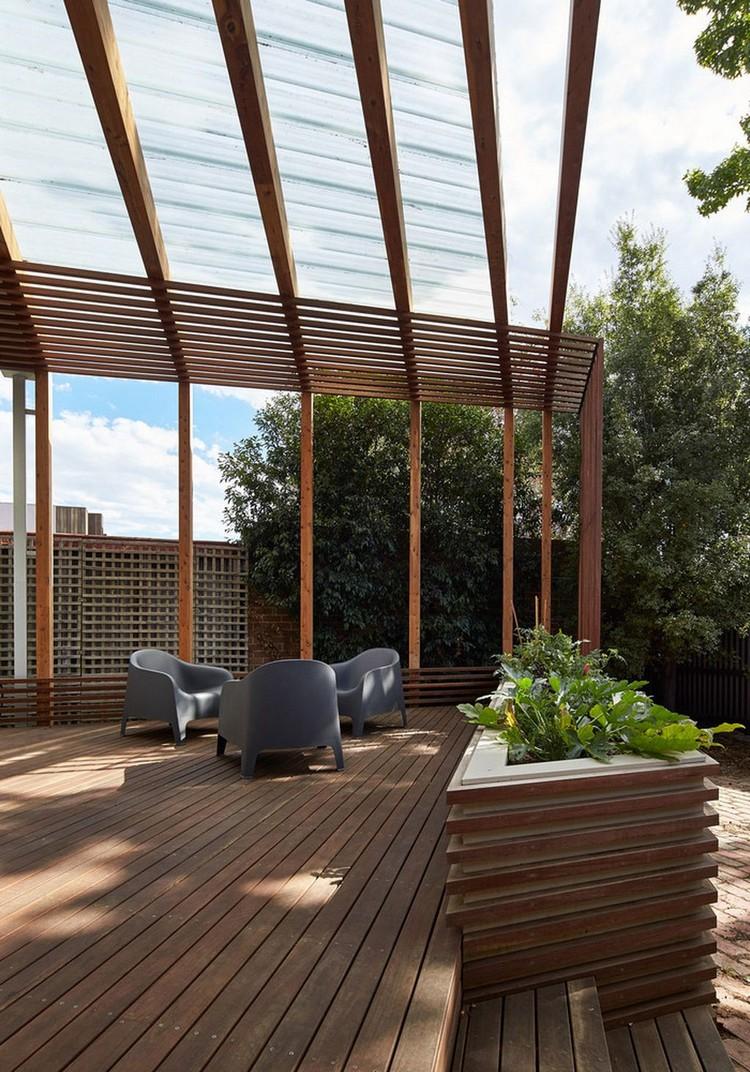 Pergola Terrasse En Bois Et 233 Tag 232 Res Murales Dans Une
