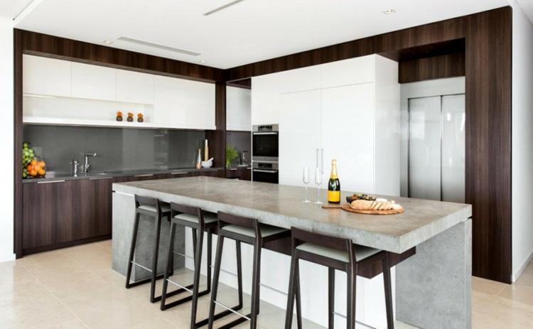 Plan de travail bton cir pour llot de la cuisine design
