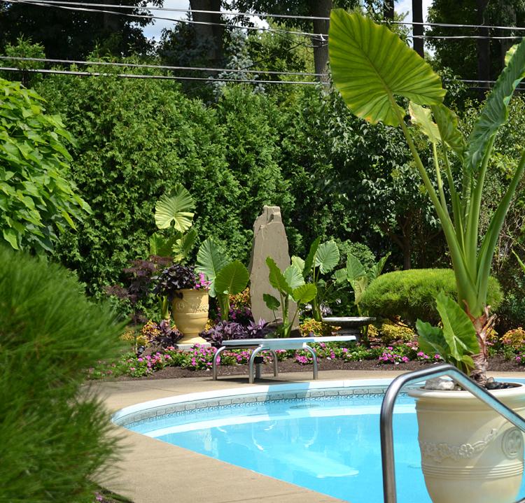 amenagement jardin paysager autour d