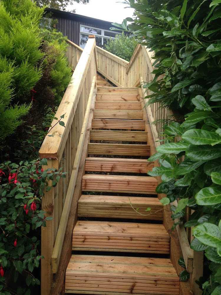 Escalier Jardin Rustique - Décoration de maison idées de design d ...