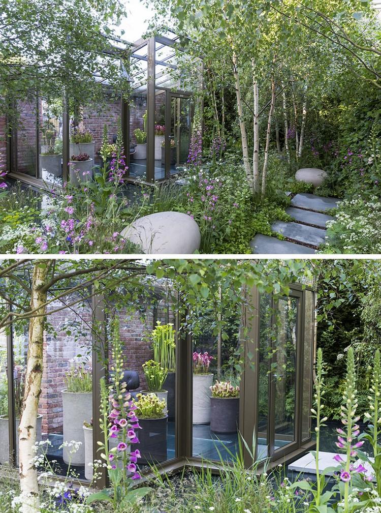 Design Exterieur Jardin Deco Serre Jardin Verre Plantes | Ifmore