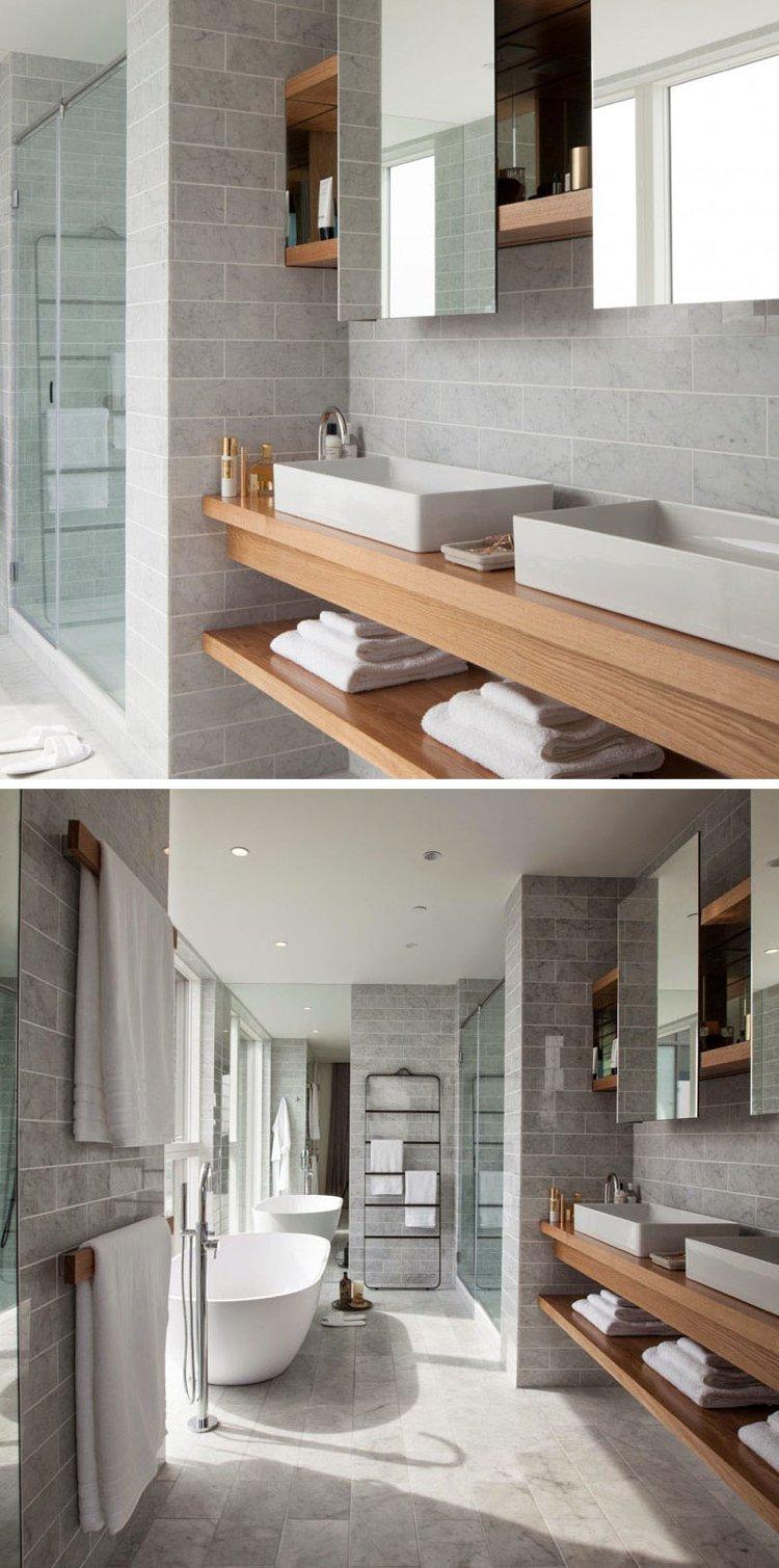 Meuble sous lavabo salle de bain dot dtagres ouvertes