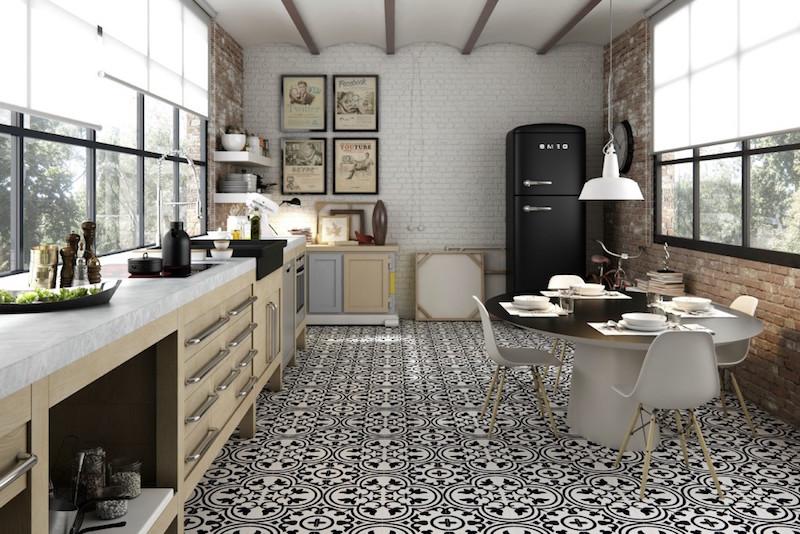 carrelage cuisine murs et sol quels