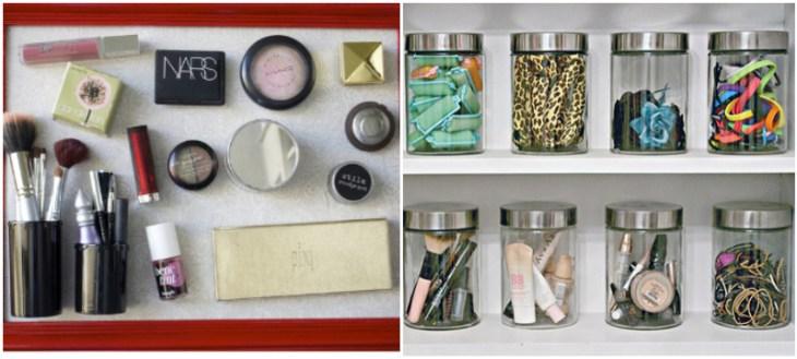 idées-rangement-maquillage-tableau-magnétique-bocaux-verre