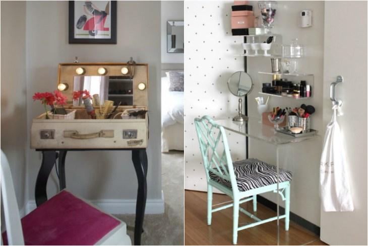 rangement-maquillage-idées-table-maquilleuse-chic-originale