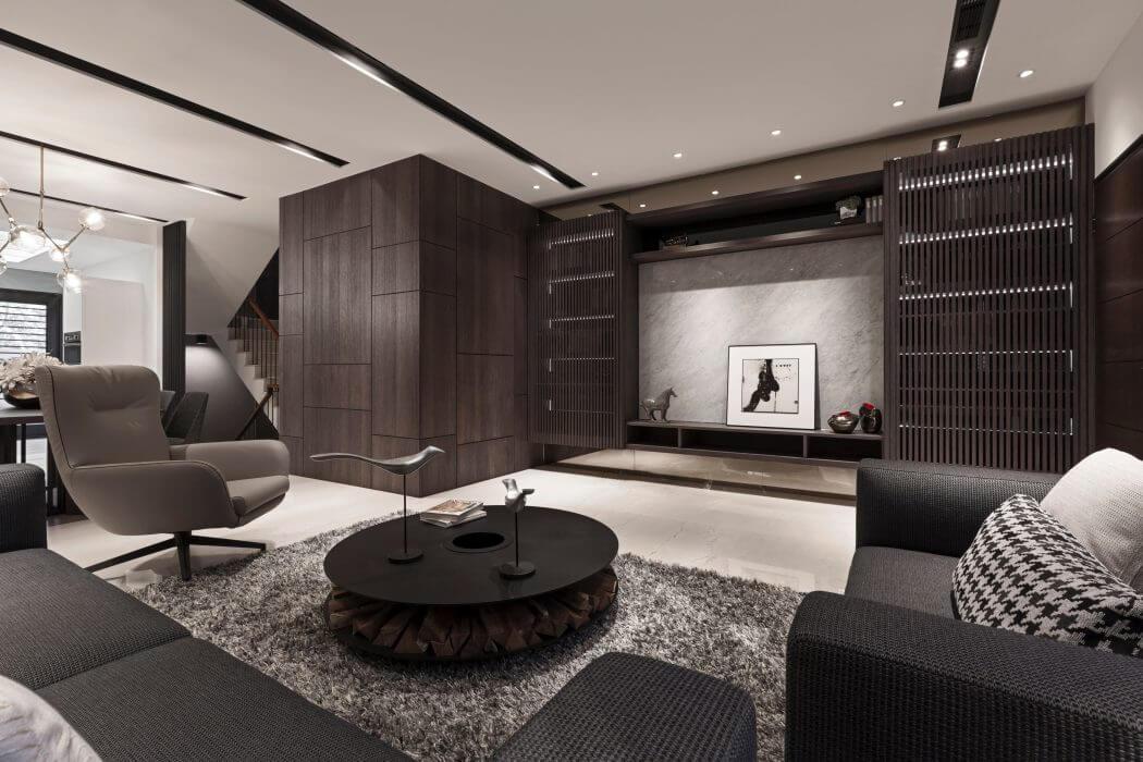 Salon Contemporain Cote Maison Design