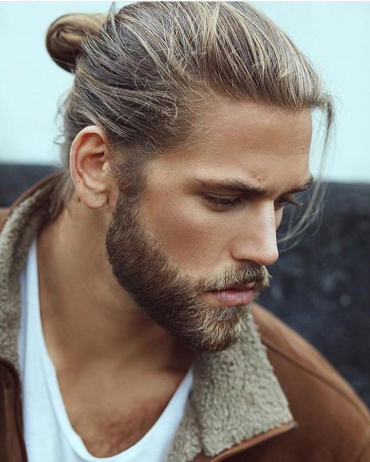 style-barbe-tendance-2016-barbe-moyenne-chignon-homme-man-bun