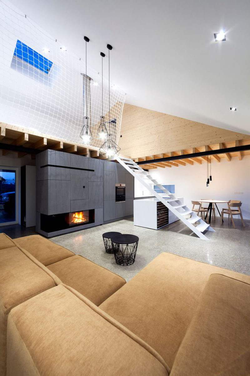 Escalier sans contremarche ni rampe une maison mezzanine moderne