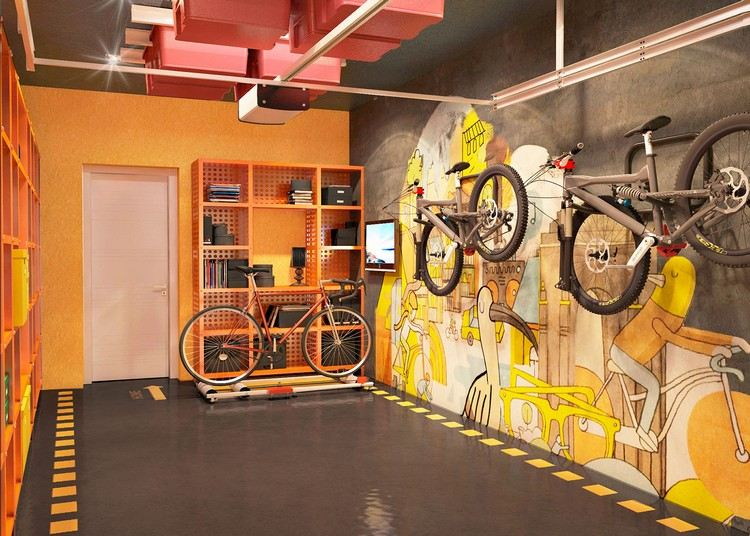 Amnagement garage fonctionnel en styles et couleurs varis