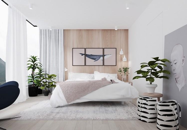 chambre claire en bois et blanc pour