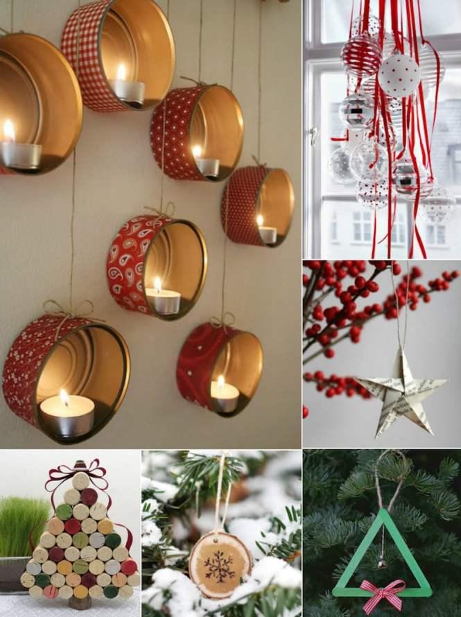 Décoration De Table Noël à Faire Soi Même Rouge Blanc