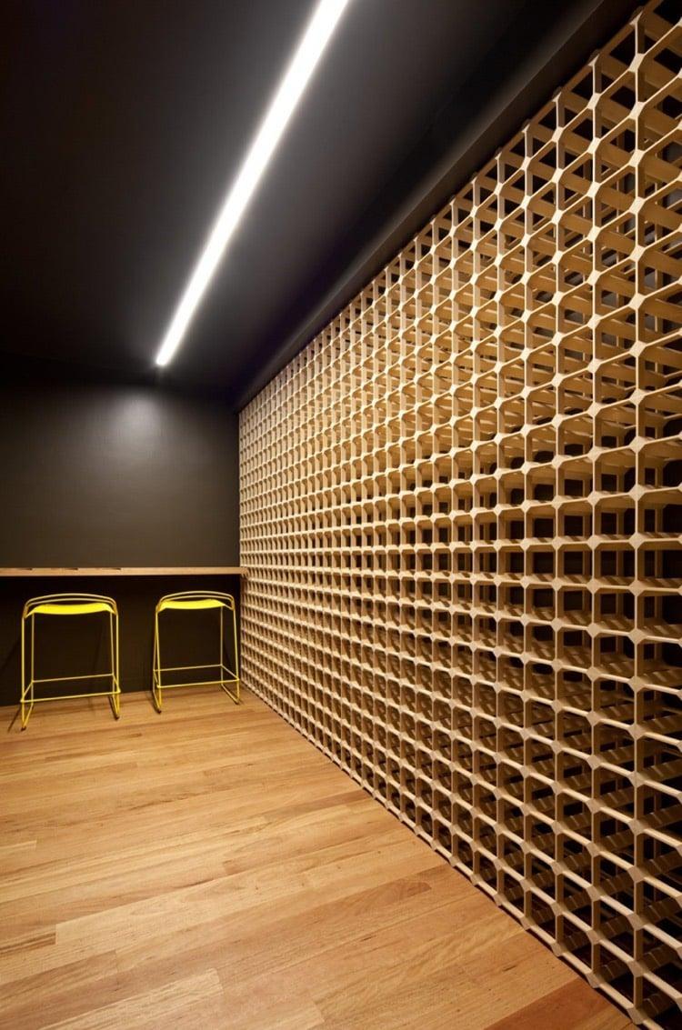 porte bouteilles mural et cave a vin