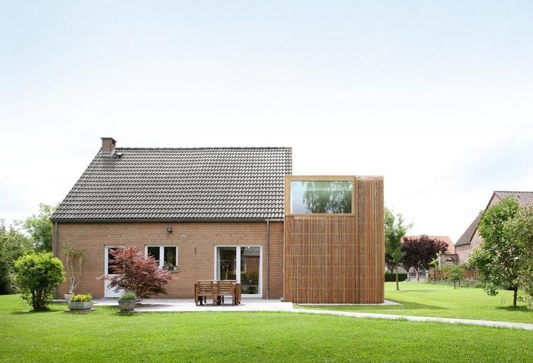 Maison Brique Moderne Maison Brique Toit Une Pente Ou Plat Bac