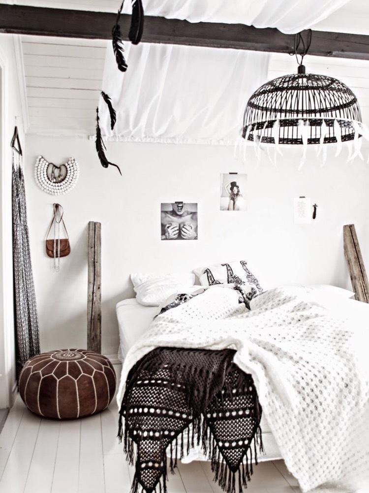 Chambre Bohme Blanche Et Pleine De Charme Pour Un Chez