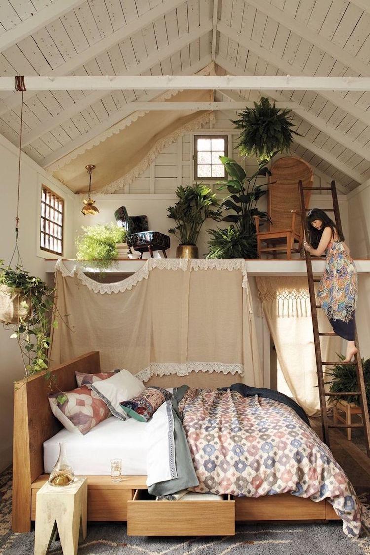 Chambre bohme blanche et pleine de charme pour un chezsoi cosy