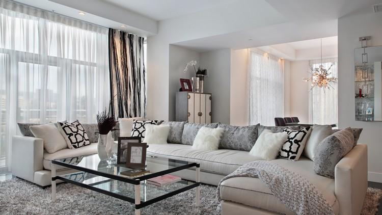 Dco salon gris blanc bois en 35 ides pour revitaliser votre intrieur