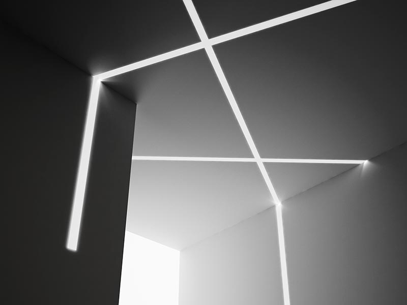 profiles aluminium rubans led encastrables plafond murs panzeri